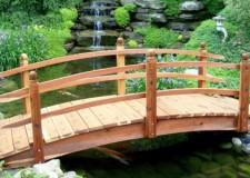 Gorgeous Japanese garden bridge construction plan with simple railing