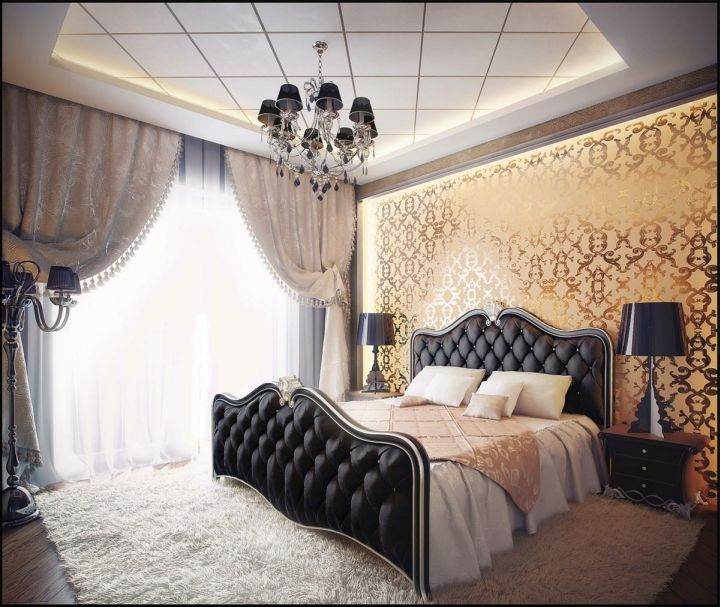 Gothic bedrooms with cream walls