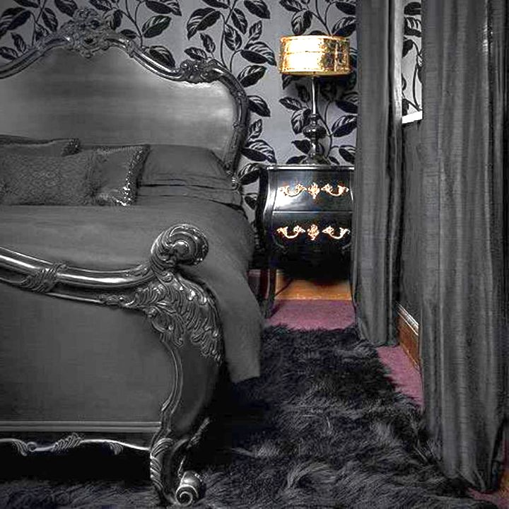 Gothic bedrooms with pink lines