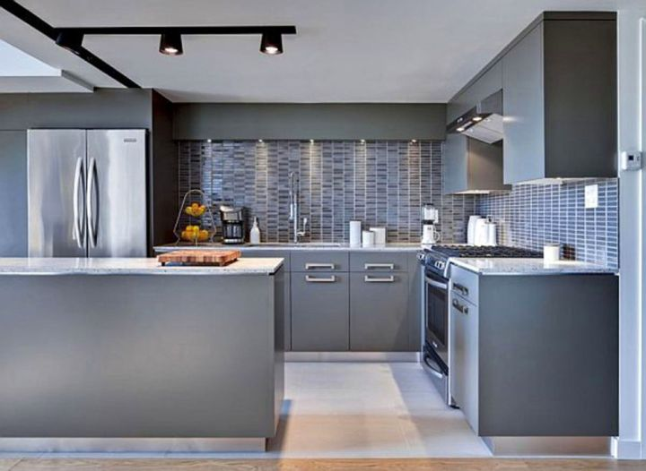 Kitchen Ideas Grey maroon and grey kitchen | winda 7 furniture