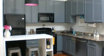 Grey Kitchen Ideas with small counter