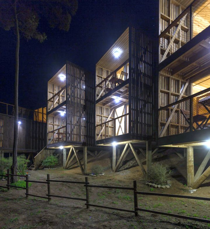 Hostal Ritoque Chile at night