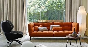 Italian Sofa Brands in orange
