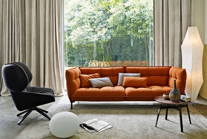 Italian Sofa Brands in orange