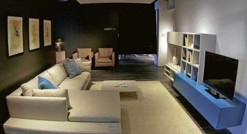 Italian furniture maker modular sofa in white