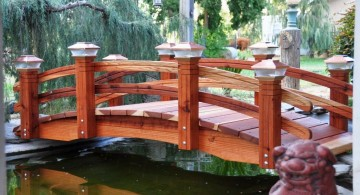 Japanese garden bridge plans in red