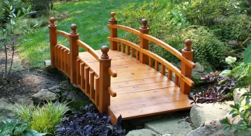 Japanese garden bridge plans with simple spindle