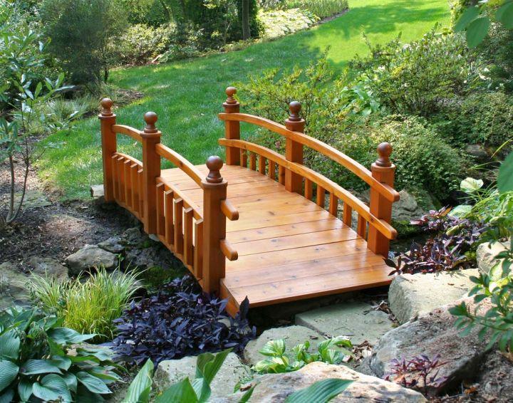 Japanese garden bridge plans with simple spindle – Garden Bridges Plans