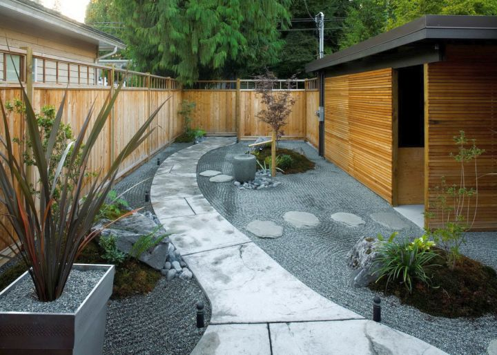 Japanese landscape design for backyard with limited space