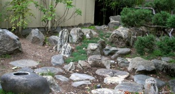 Japanese style small rock garden designs