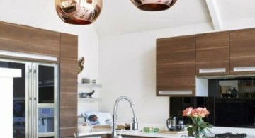 Kitchen island pendant lighting ideas retro gold ball