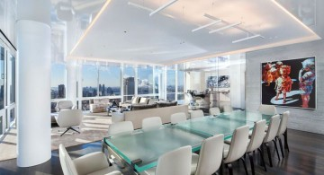 Manhattan Penthouse dining room
