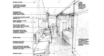 Manhattan Penthouse drawing for bathroom