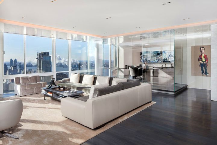 Manhattan Penthouse living area