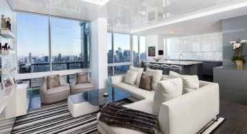 Manhattan Penthouse living room