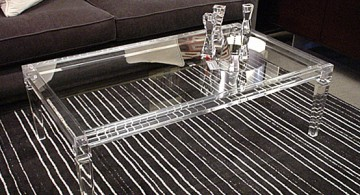 Milano Fine Leg Square Lucite Coffee Table