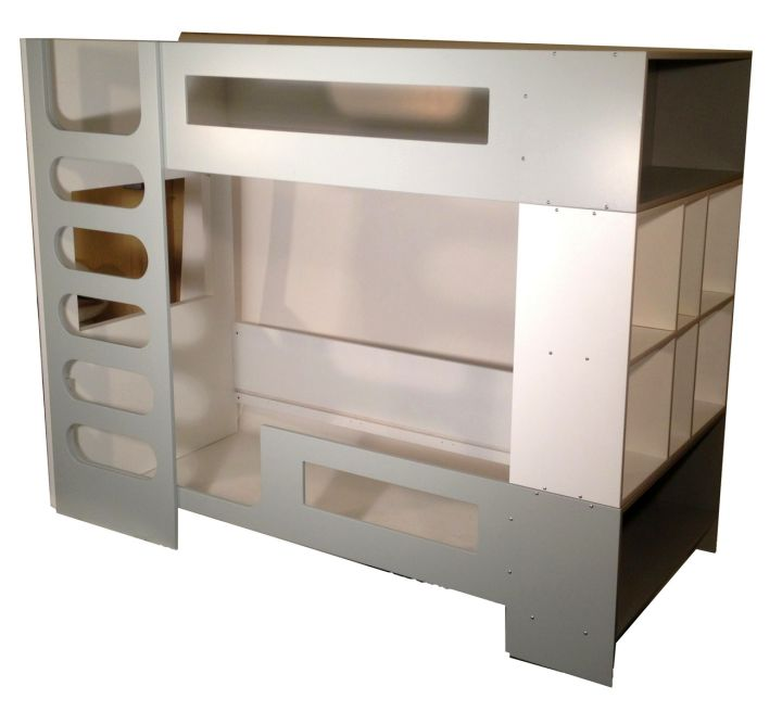 Modern Bunkbed in grey and white