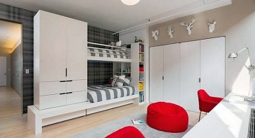 Modern Bunkbed with attached closet