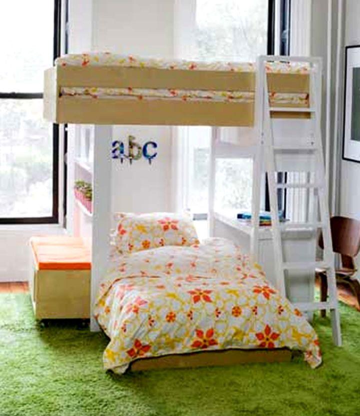 Modern Bunkbed with flower bedding