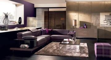 Modern black L shaped Italian Sofa Brands