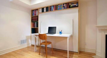 Murphy bed as desk bed for adults