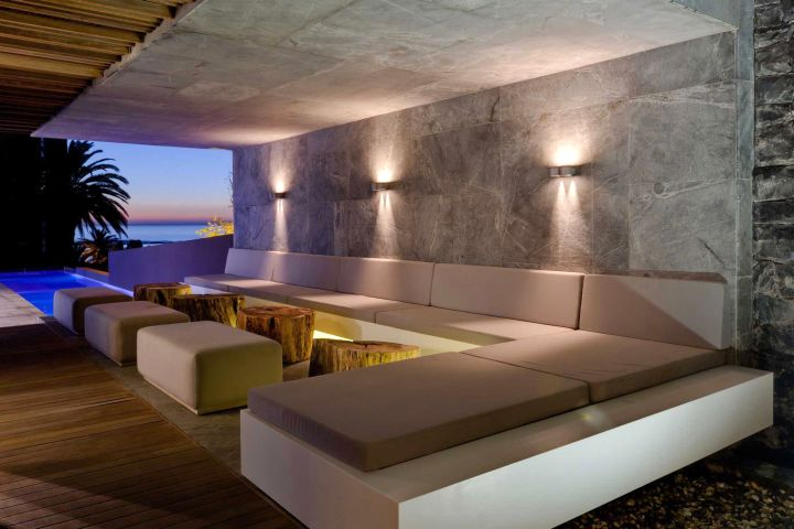 POD Hotel South Africa L shaped modular lounge