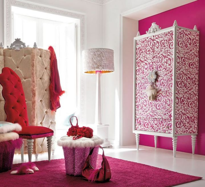 17 hot pink room decorating ideas for girls for Fuschia bedroom ideas
