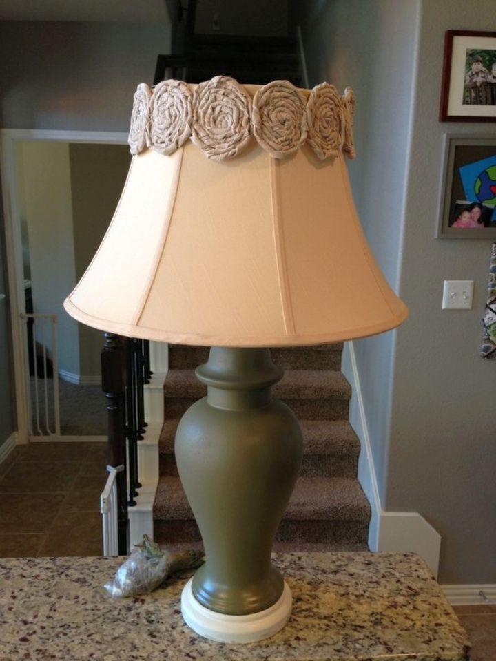17 lovely rosette lamp shade design ideas for Lamp shades austin