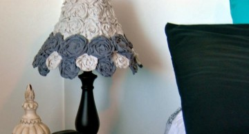 Rosette lamp shade in shades of blue