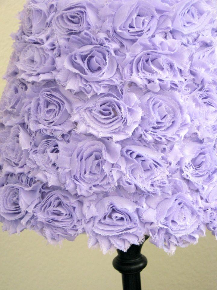 Rosette lamp shade pale purple