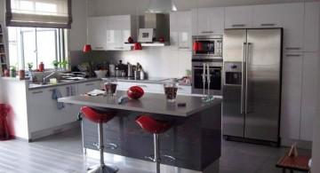 Sleek White and Grey Kitchen Ideas