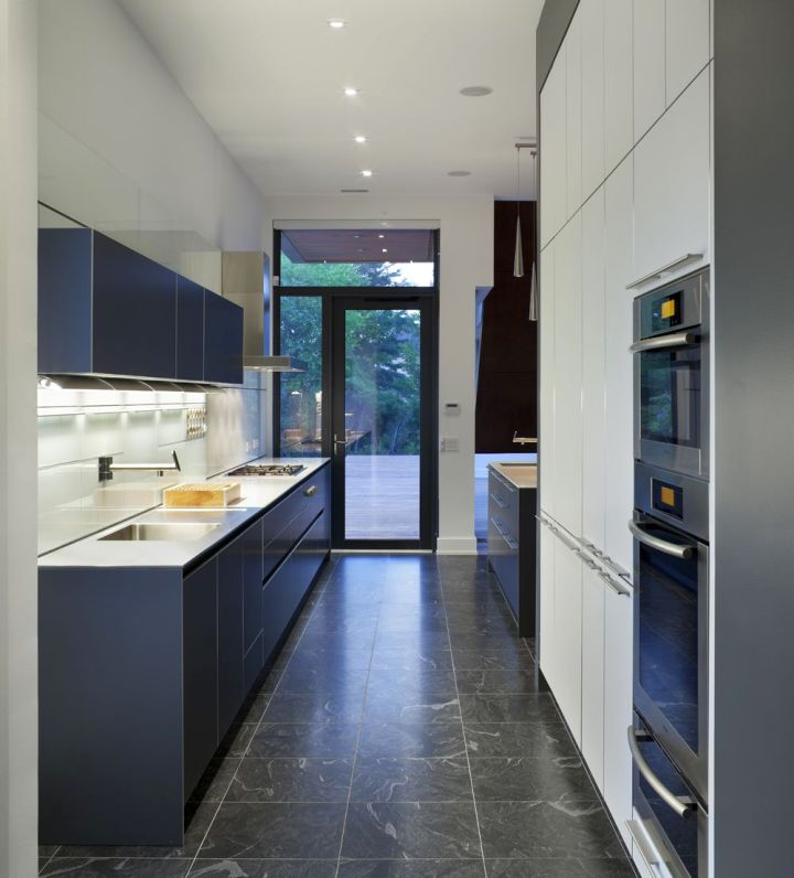 Sleek Grey Kitchen Ideas Modern Interior Design - Blue and grey kitchen ideas