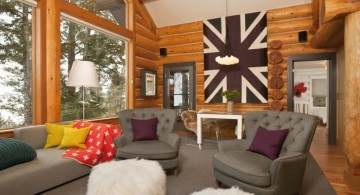 Tuscan living room decor for a cabin