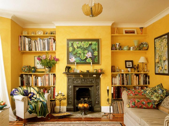 tuscan living room decor for small rooms - Yellow Living Room Decor