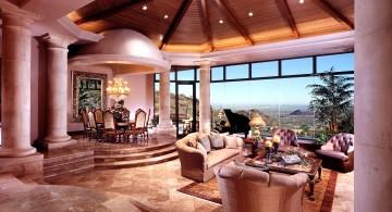 Tuscan living room decor semi outdoor