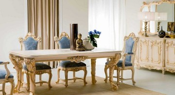 Victorian style dining table set Italian furniture maker