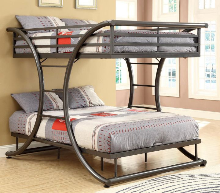 X cresent frame bunk bed for adults