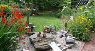 Zen inspired small rock garden designs