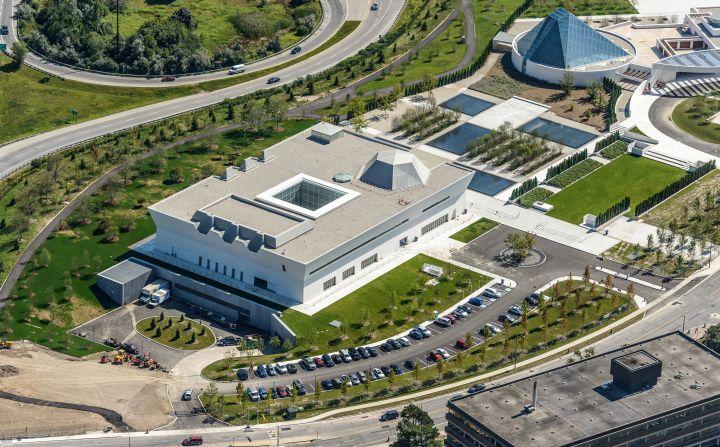 aga khan museum complex view