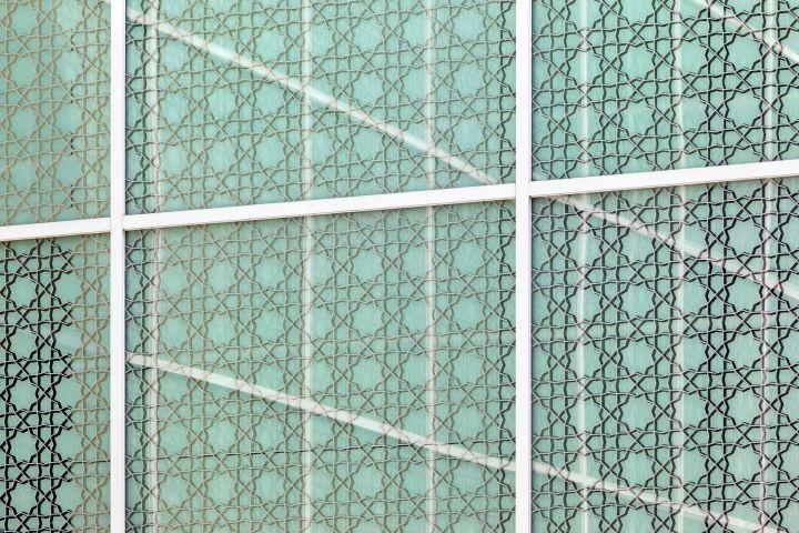 aga khan museum window close up