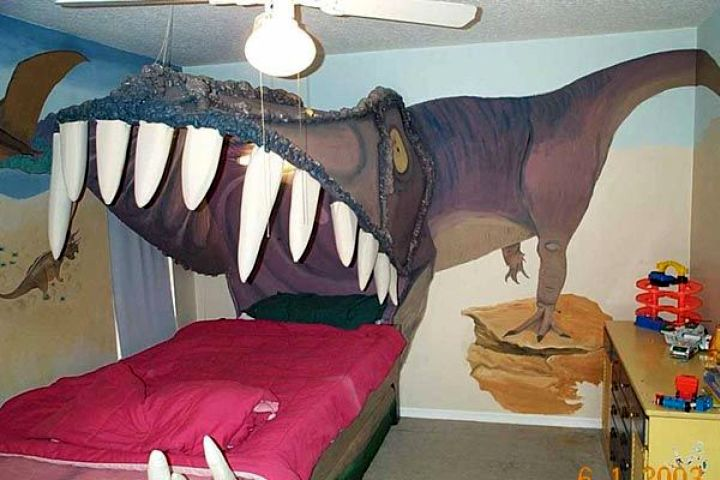 awesome 3D dinosaur wallpaper mural