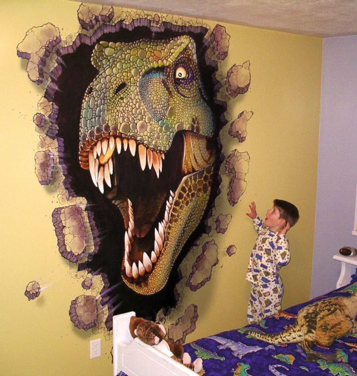 17 awesome dinosaur wallpaper mural designs
