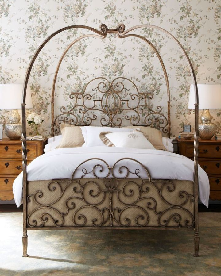 17 elegant tuscan bedroom furniture design ideas for Iron bedroom furniture