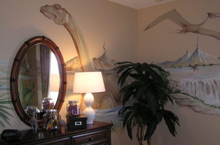Beautiful dinosaur wallpaper mural for Dinosaur mural wallpaper