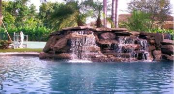 beautiful pools with waterfalls