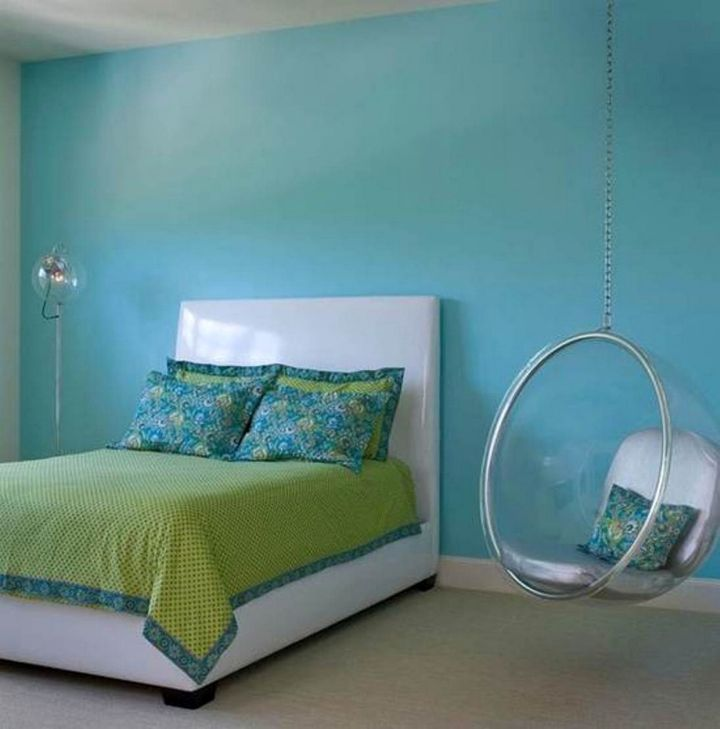 Bedroom swings in blue room for Cool hanging chairs for bedrooms