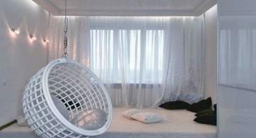 bedroom swings in white
