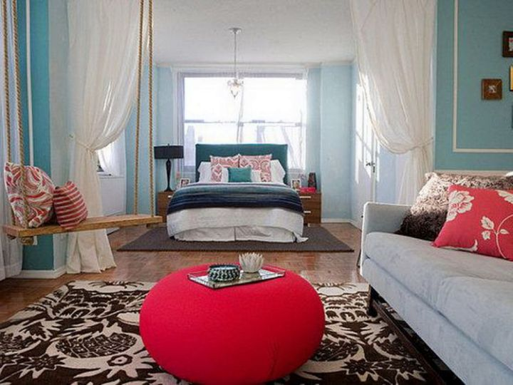 bedroom swings with ottoman couch