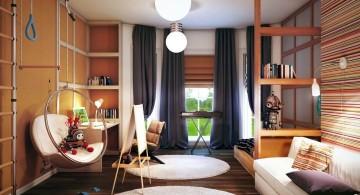 bedroom swings with teddy bear