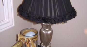 black lace Rosette lamp shade